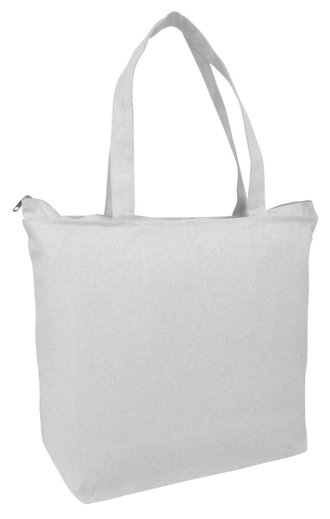 ... white Cotton Affordable Zippered Tote Bags ... acf6449d09065