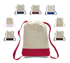 Two Tone Canvas Sport Backpack Cheap