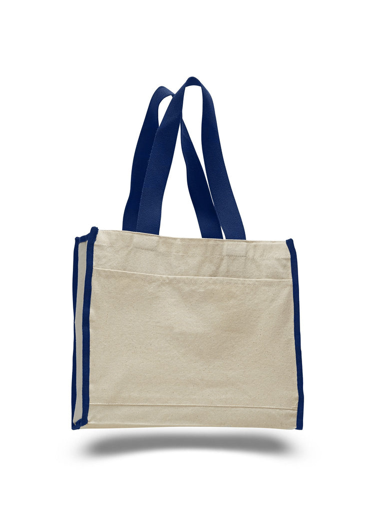 e7eef91e18 ... Affordable Canvas Tote Bag with Royal Colored Trim ...
