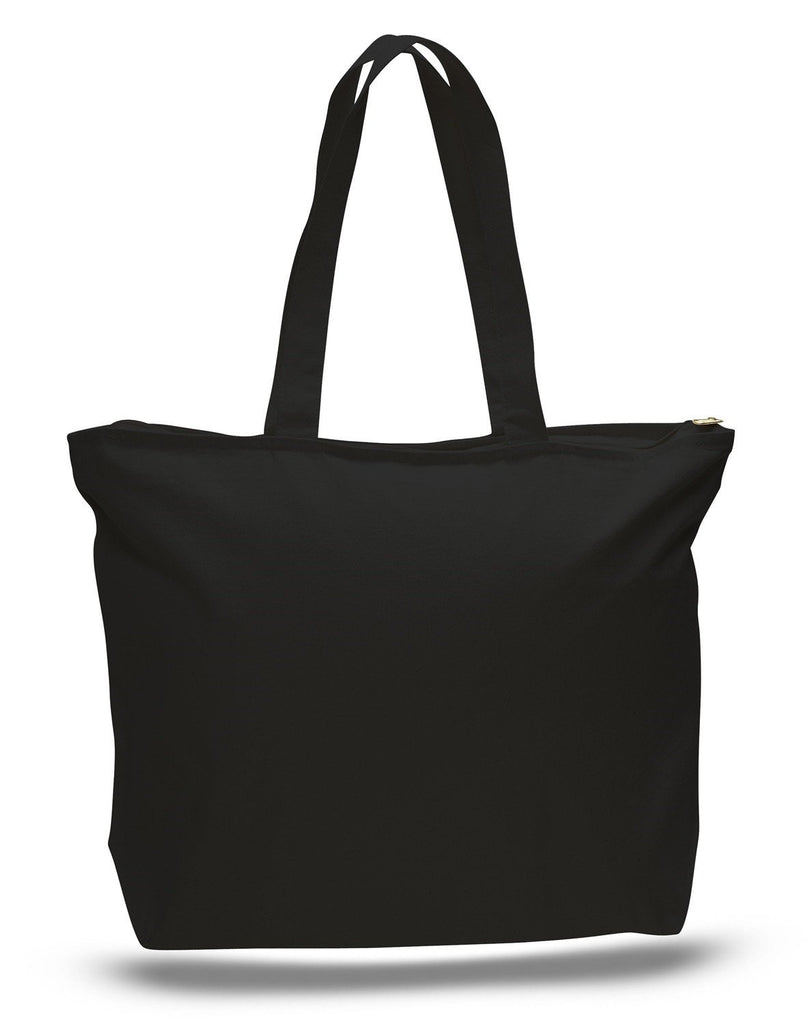 c8431cb5cd5c ... Canvas Zippered Totes · Promotional Black Cotton Zippered Tote Bag ...