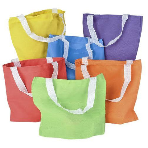 "8"" MINI Cotton Canvas Tote Bags W/Gusset"