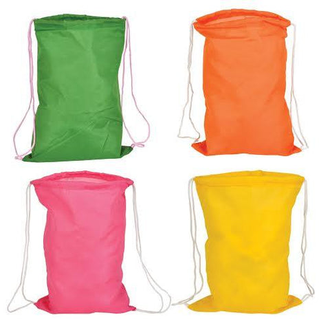 "14"" MINI Drawstring Bright Color Kids Backpack"