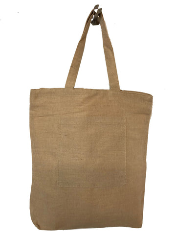 Zippered JuCo Tote Bags with Inside Zipper Pocket TJ698