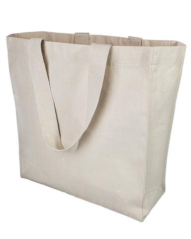 12 ct Ultimate Canvas Shopper Tote Bag / Grocery Bag - By Dozen