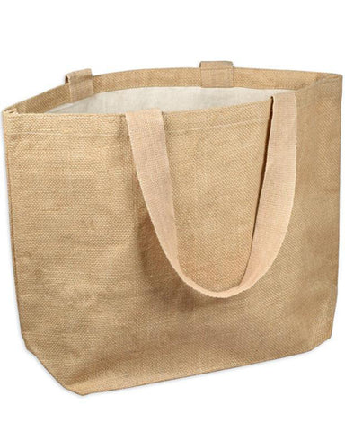 6 ct Everyday Jute Bags / Carry-All Burlap Totes - Pack of 6