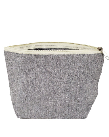 Large Size Recycled Flat Zipper Cosmetic Bag - RC695