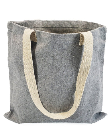 60 ct Recycled Canvas Flat Tote Bag / Basic Book Bag - By Case