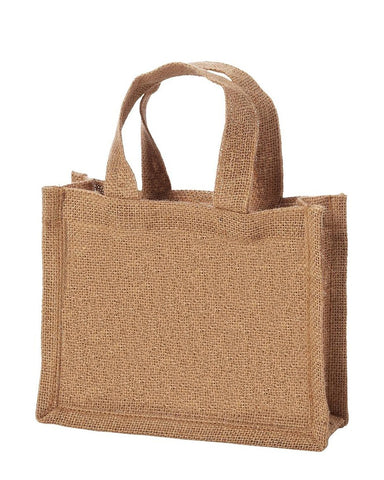 6 ct Small Burlap Party Favor Bags / Jute Gift Tote Bags - Pack of 6
