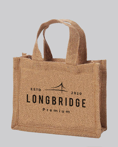 Small Burlap Party Favor Bags Customized - Personalized Small Burlap With Your Logo - TJ767