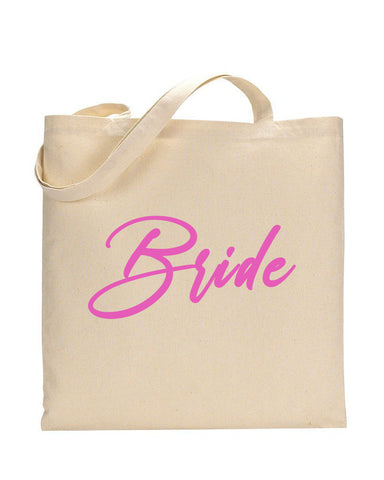 Pink Color Bride Tote Bag - Bridal-Wedding Tote Bags