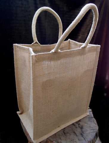 48 ct Natural Jute 6 Bottles Wine Bags / Burlap Wine Tote Bags with Removable Dividers - By Case