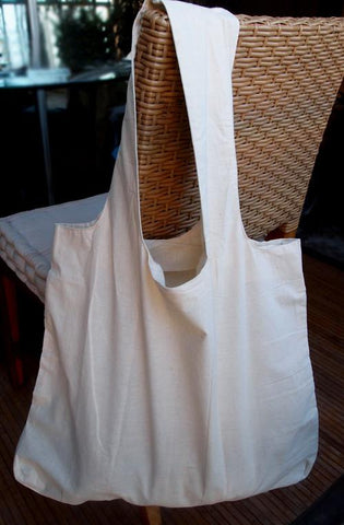 12 ct Large 100% Soft Cotton Stow-N-Go Tote Bag - By Dozen