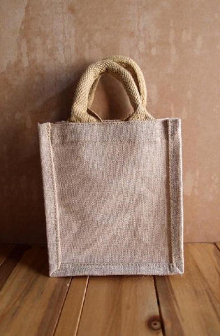 Natural Burlap Gift Tote Bags Party Favor Burlap Totes  TJ906