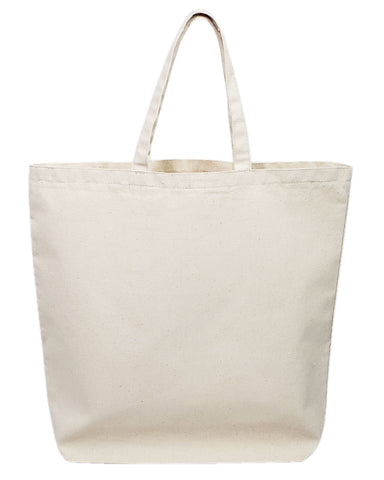 Oversized Canvas Tote Bag - Made in USA
