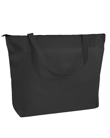 50 ct Zippered Promo Convention Tote Bag with Gusset - Pack of 50