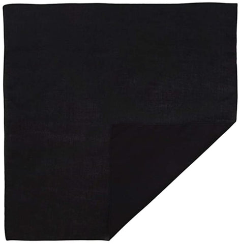 120 ct Polyester Solid Color Economical Bandana - By Dozen