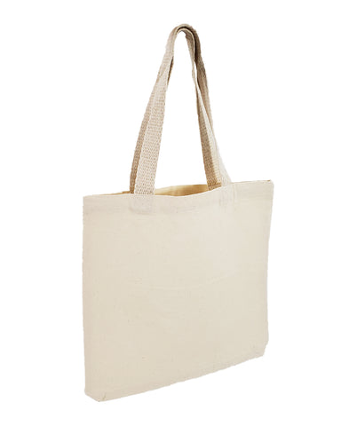 12 ct 12'' Small Canvas Tote Bags/Book Bags - By Dozen