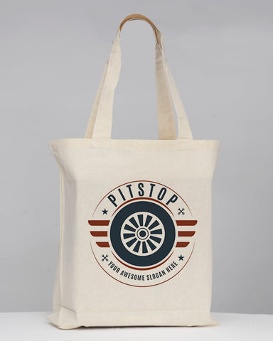 Gusseted Custom Tote Bags 100% Cotton - Logo Tote Bags With Bottom Gusset