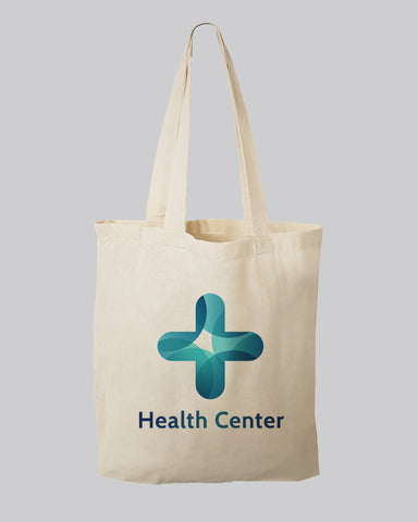 "11"" Small Custom Tote Bags - Small Cotton Bags with Your Logo"