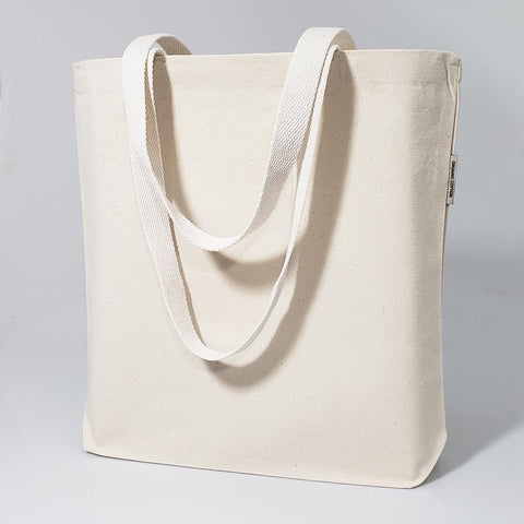 120 ct Organic Cotton Canvas Grocery Tote Bags W/Gusset - By Case