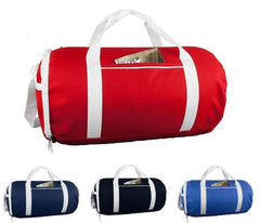 Two-Tone Sport Gym Roll Duffel Bags