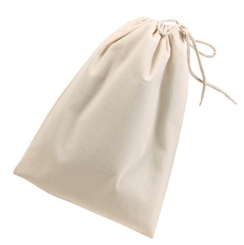 12 ct Cotton Shoe Bags / Value Drawstring Bags - By Dozen