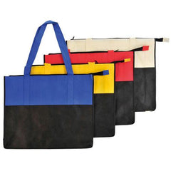 Two Tone Large Polypropylene Zippered Tote Bag