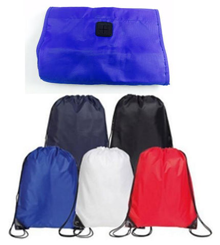 High Quality Foldable Drawstring Bag / Cinch Pack W/Audio out - NTB441 (CLOSEOUT)