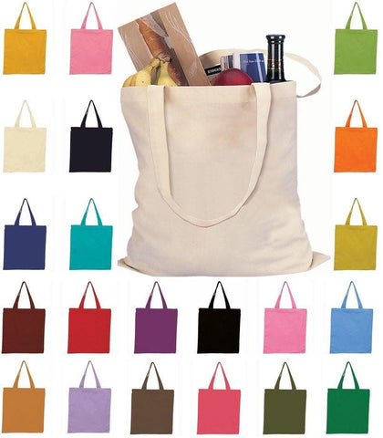 Set of 50 - Canvas Tote Bags - High Quality Blank Totes TOB293