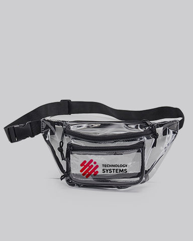 Custom Transparent Three Zipper Fanny Pack - Fanny Pack With Your Logo - HP1105