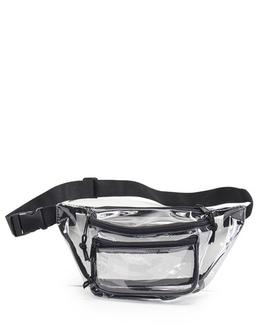 72 ct Transparent Three Zipper Fanny Pack - By Case