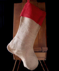 "Reusable Wholesale Extra Large 24"" Christmas Stocking goodies Jute Burlap Gift Santa Sack Screen Printing Embroidery Heat Transfer Vinyl"