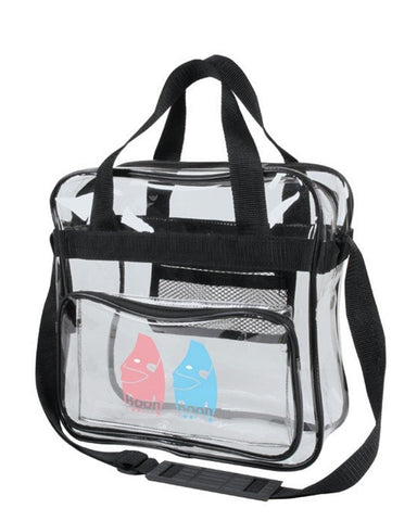 6 ct Clear Messenger Bag / Crossbody Stadium Bags - Pack of 6