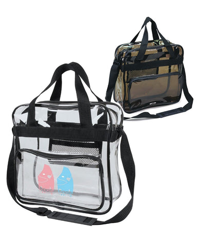 24 ct Clear Messenger Bag / Crossbody Stadium Bags - By Case