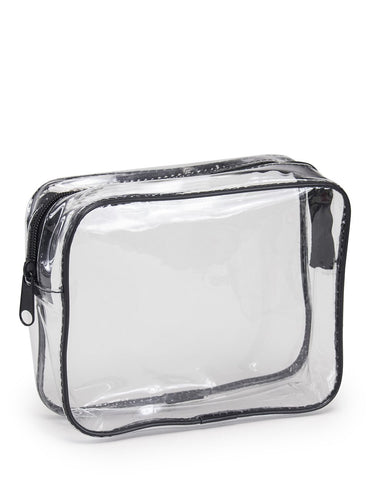 5 ct Clear Vinyl Travel Size Cosmetic Bag - Pack of 5