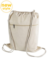 cotton drawstring bag zipper new style