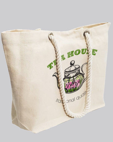 Custom Large Canvas Beach Tote Bag - Personalized Tote Bags With Your Logo - RP260
