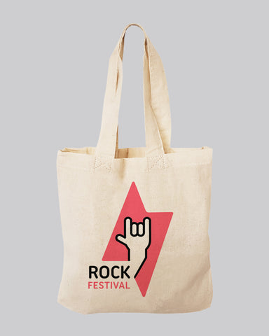 "8"" MINI Custom Tote Bags 100% Cotton - Personalized Favor Gift Bags"
