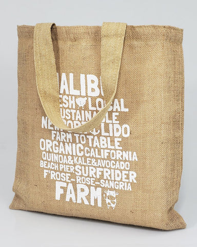 Burlap Promotional Tote Bags - Burlap Tote Bags Customized Logo