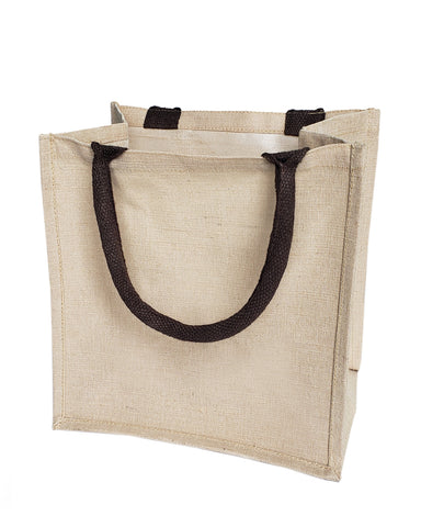 48 ct Cute Burlap Bags - JuCo Totes (Jute & Cotton Blend) - By Case