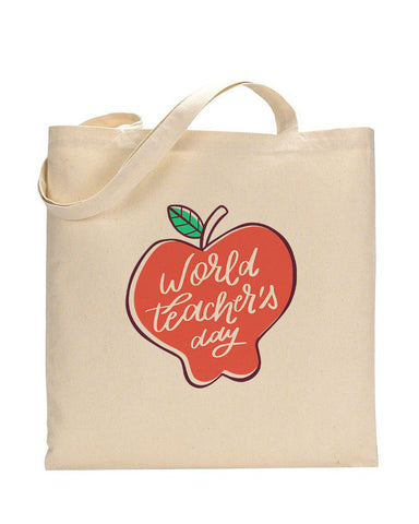 Modern Apple Customizable Tote Bag- Teacher's Tote Bags