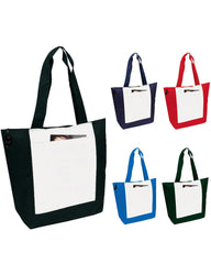 600D Polyester Deluxe Zipper Tote Bags