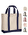 Economical Heavy Cotton Two Tone Shopping Tote Bags