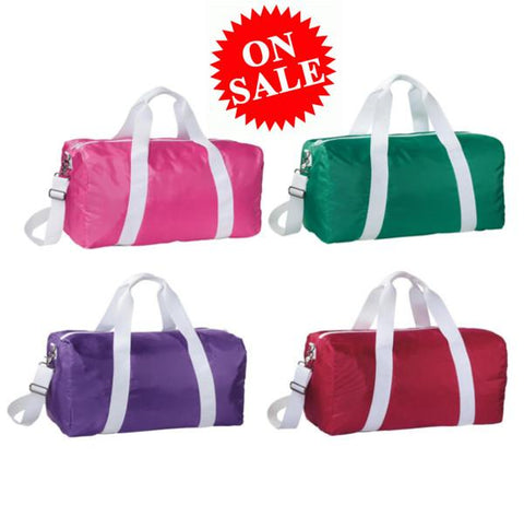 Large Size Overnighter Poly Duffel Sports Bag (On Sale)