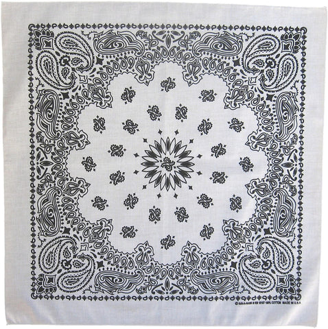 600 ct 100% Cotton Paisley Bandana - Made in USA - By Case