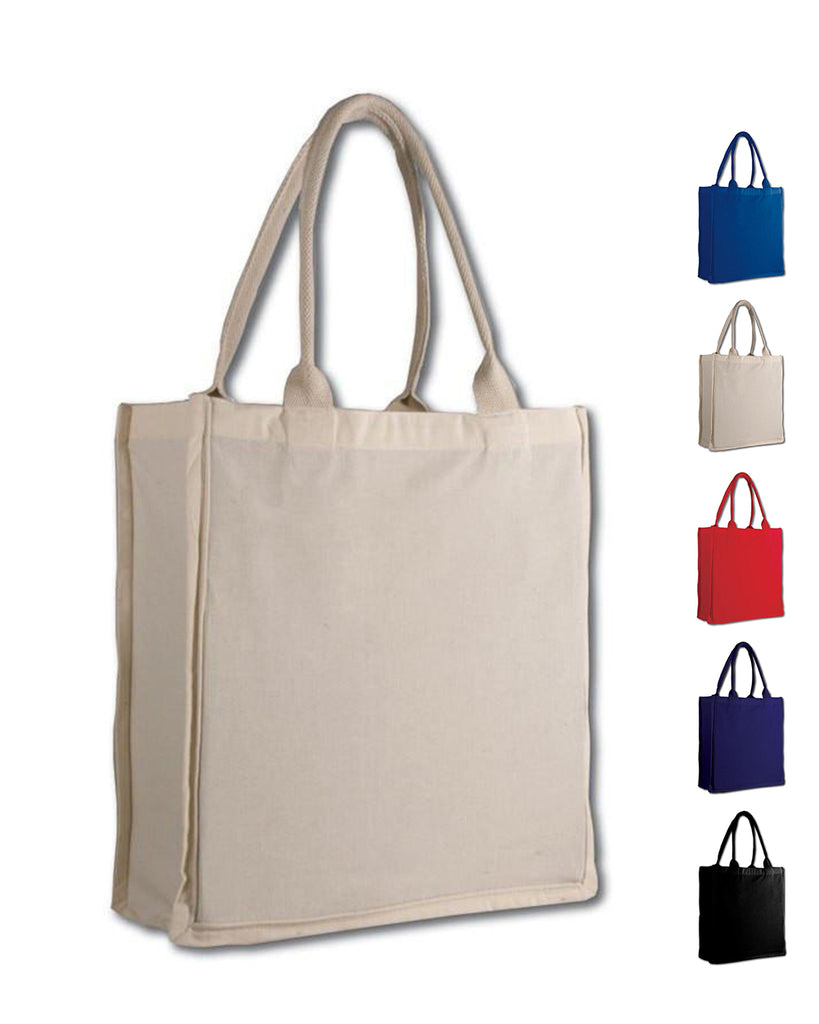 7b169f128bab 100% Cotton Fancy Shopper Tote Bags Wholesale