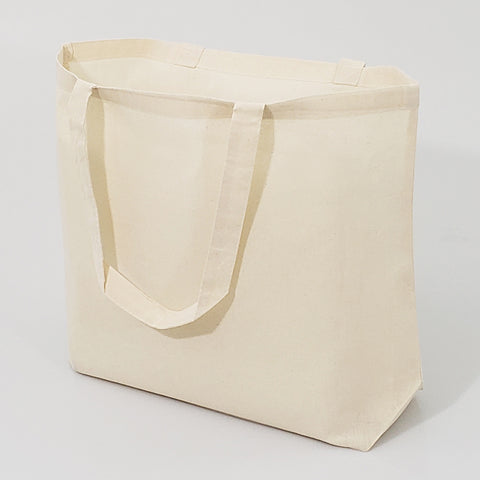 12 ct Large Cotton Basic Grocery Tote Bags - By Dozen