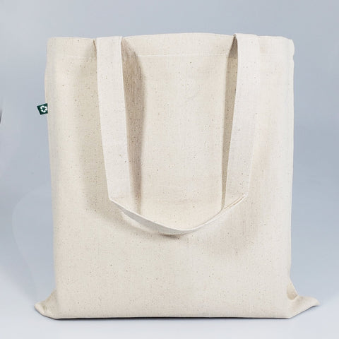 Eco Friendly Recycled Cotton Canvas Basic Tote Bags - RC200