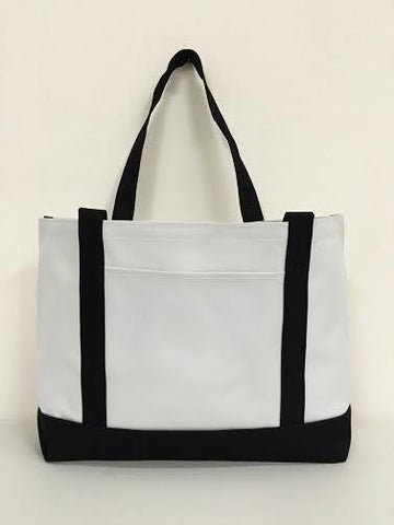 Grocery Shopping Tote Bag With Large Outside Pocket