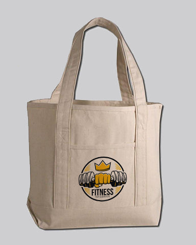 Medium Size Heavy Canvas Deluxe Tote Bags Customized - Personalized Tote Bags With Your Logo - TG258
